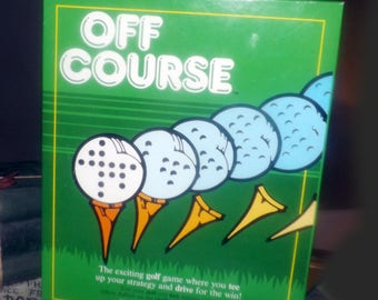 Vintage (1986) and scarce Off Course prototype golfing board game published by boutique Canadian gamehouse Slade Games Inc.