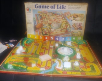 Vintage (1977) Game of Life board game. Milton Bradley game C4000. Made in Canada. Complete.