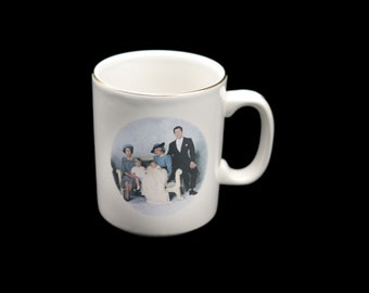 Vintage (1984) commemorative coffee or tea mug celebrating the birth of Prince Harry. Made in England by St George. Lady Diana.