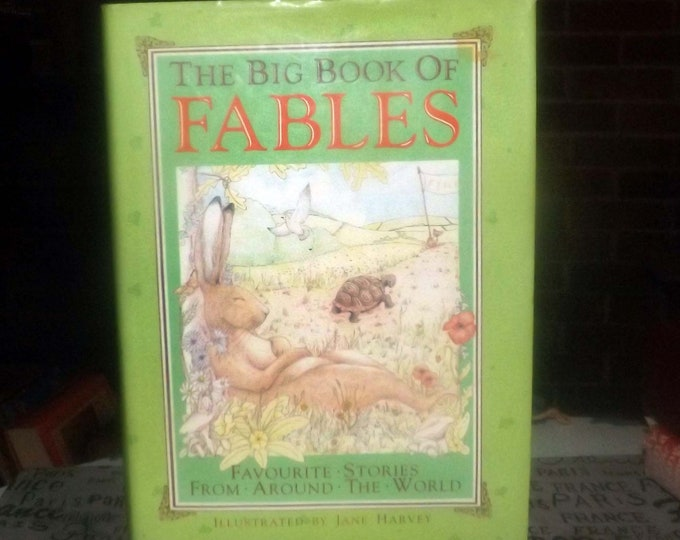 Vintage (1987) The Big Book of Fables hardcover children's book published by Lamboll House, London UK. Complete.