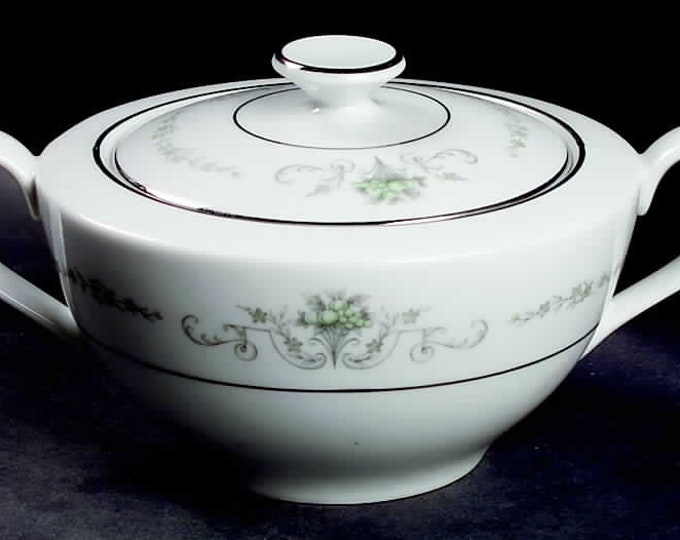 Vintage (1980s) Rose China | Noritake Gainsborough 2222 creamer or covered sugar bowl.