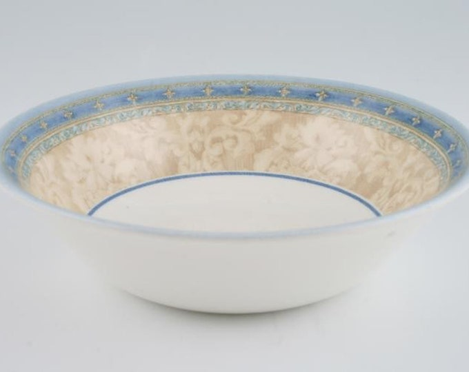 Vintage (1999) Churchill China Prague pattern coupe soup bowl. Jeff Banks Ports of Call series. Made in England.