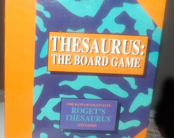 Vintage (1992) Thesaurus: The Board Game prototype board game by Waterbend Investment Corp. Complete. Rare.