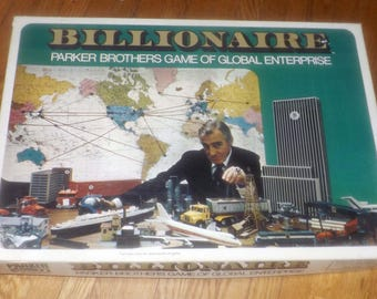 Vintage (1973) Billionaire board game published by Parker Brothers.