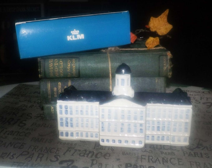 Featured listing image: Vintage (1970s) KLM Bols Royal Palace. Most collectible and rare of KLM Delft Houses.  Original Blue Delfts made in Holland.