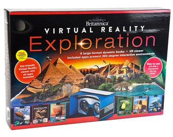 Encyclopedia Britannica Virtual Reality Exploration interactive book set. Unopened, new in box. Complete.