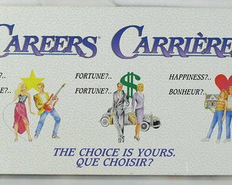 Vintage (1992) Careers board game published by Irwin.  Complete.