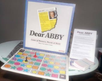 Vintage (1992) Dear Abby board game. Game of Manners, Morals and Mirth published by Pastime Games. Almost complete (see below).