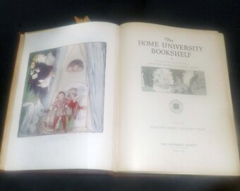 Vintage (1930s) hardcover book Volume III of The Home University Bookshelf Folklore, Fables and Fairy Tales. Complete.
