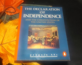 Vintage (1995) paperback mini book The Declaration of Independence and the US Constitution. Penguin 60s Classics