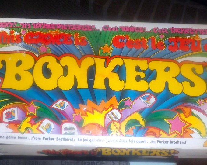 Vintage (1978) Bonkers | This Game is Bonkers board game by Parker Brothers.  Almost complete (see below).