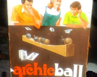 Vintage (1960) Archie Ball | Archieball strategy board game made in USA by Skor-Mor.  Complete.