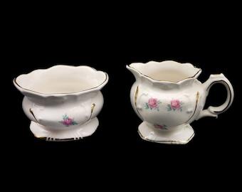 Vintage (1960s) Price Kensington England 3321 creamer and open sugar bowl set made in England. Flawed (see below).