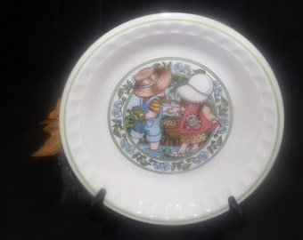 Vintage (1989) Watkins Summertime Friends Country Kids Summertime Fresh Strawberry Pie recipe pie plate.