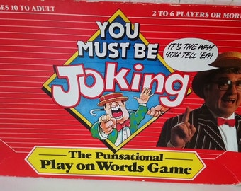 Vintage (1987) You Must Be Joking board game published by Waddingtons.  Complete.