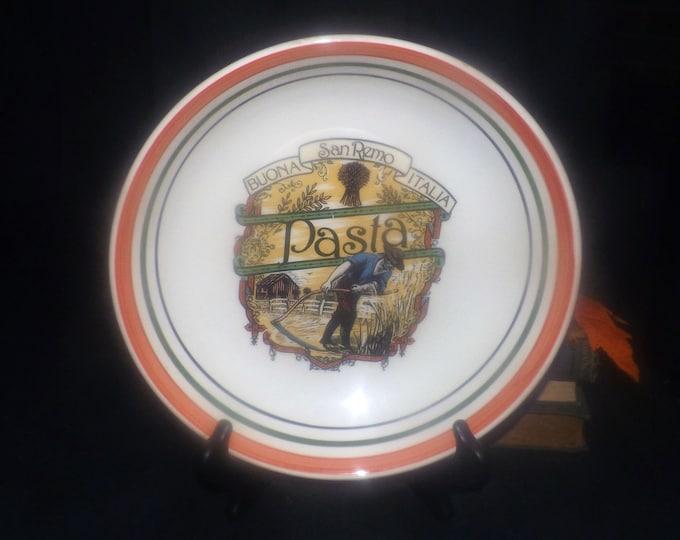 Vintage (1980s) Himark San Remo Buona Italia large pasta bowl. Made in Italy.