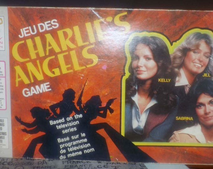 Vintage (1977) Charlie's Angels board game published by Milton Bradley and based on the long-running TV show of the same name. Complete.