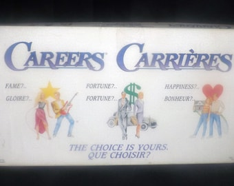 Vintage (1992) Careers board game published by Irwin.  English | French version. Complete.