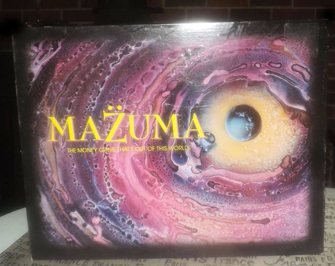 Vintage (1993) Mazuma space money board game published by boutique gamehouse IMARC | Wisecrack | Mark Gilhuis Games.  Complete.