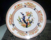 Antique (1905-1909) Diamond China Diamond Pottery Co. England hand-painted Indian-Tree motif Imari luncheon plate. Cobalt and gold.