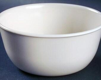 Corelle | Corning USA | Corningware Sandstone all-beige ice-cream, sherbet, dessert or cereal bowl. Discontinued 2010.