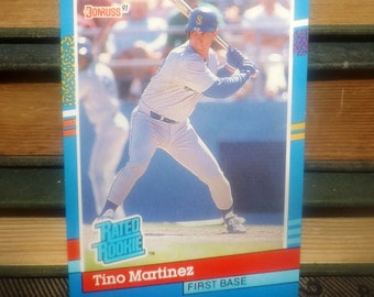 Vintage (1991) DonRuss baseball card #28 Tino Martinez RR First Base Seattle Mariners.