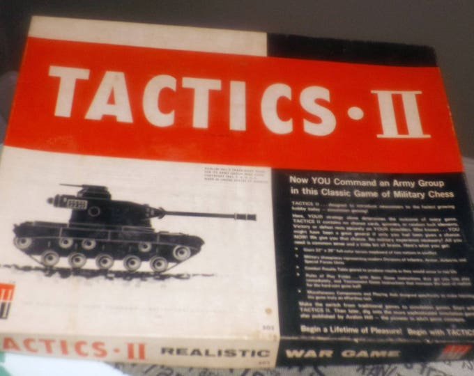Vintage (1961) Tactics II military chess strategy | combat game published by Avalon Hill.  Made in the USA. Complete.