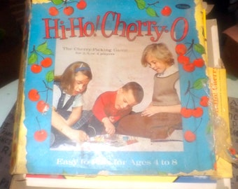 Vintage (1960) Hi-Ho Cherry-O board game for kids aged 4-8. Whitman Publishing Co. Incomplete (see details below)