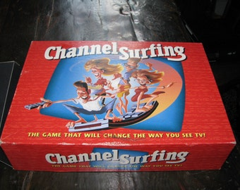Vintage (1994) Channel Surfing Board Game published by Milton Bradley.  Complete.