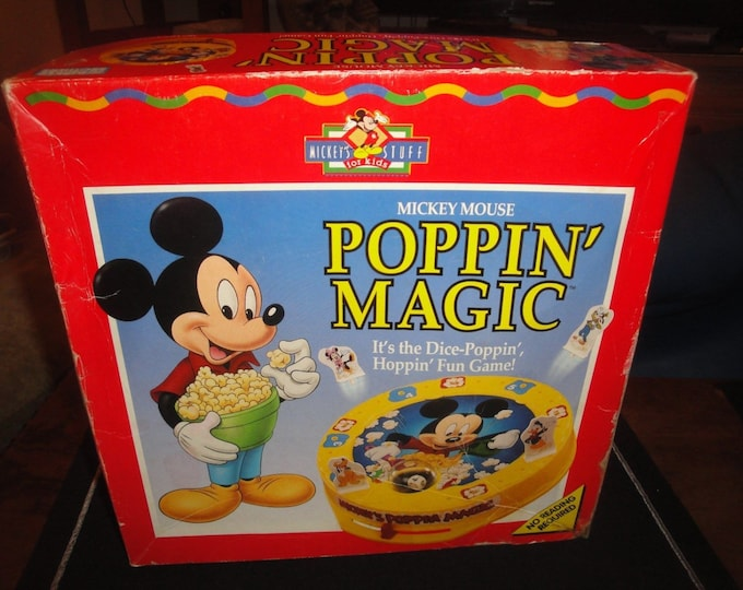 Mickey Mouse (Walt Disney) Poppin' Magic Game.  Vintage 1991.  Complete.