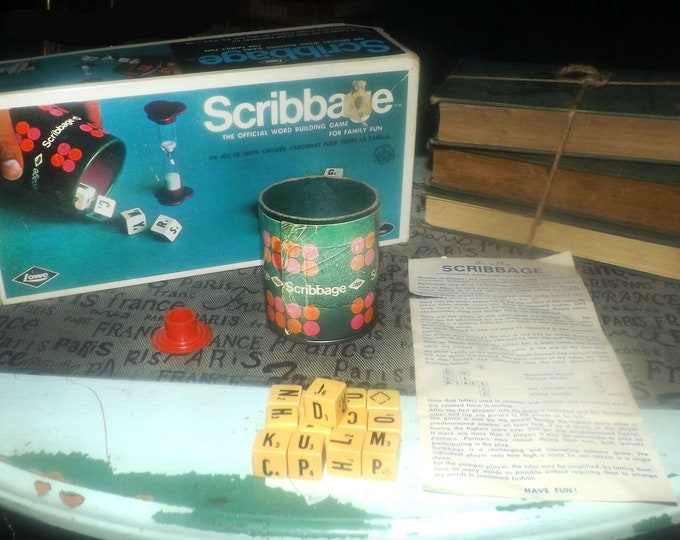 Vintage (1968) Scribbage board game published by E.S. Lowe | Copp Clark Canada as game no 708. Almost complete (see below).