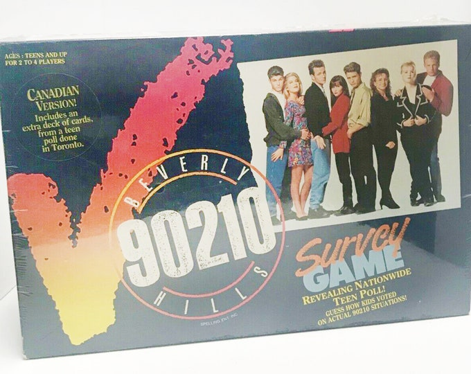 Vintage (1991) Beverly Hills 90210 Survey Game based on the popular teen drama series. As new in sealed, unopened box. Complete.
