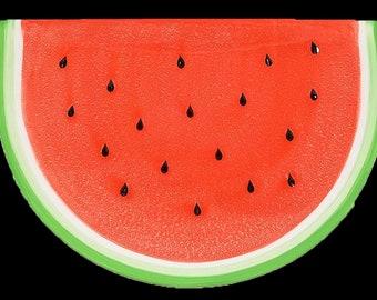 Vintage Sonoma   Williams Sonoma figural Watermelon slice salad or side plate.  Just too cute.