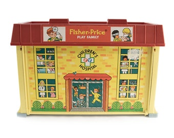 Vintage (1976) Fisher Price Children's Hospital set made in the USA.