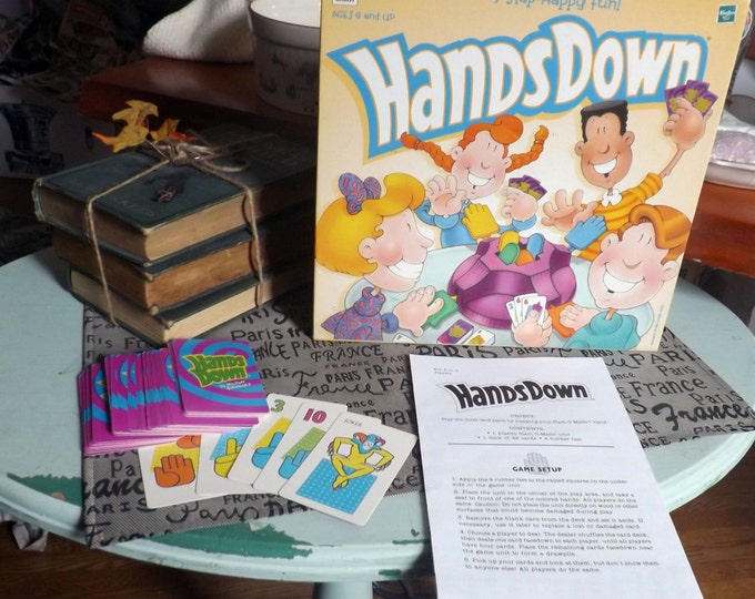 Vintage (1990s) Hands Down board game published by Hasbro | Milton Bradley.  Complete.