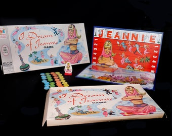 Vintage (1965) I Dream of Jeannie board game Milton Bradley. Made in USA. Complete.