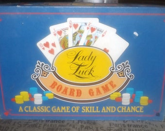 Vintage (1986) Lady Luck casino in a box board game published by boutique gamehouse Northern Games | BDP. Incomplete (see below).