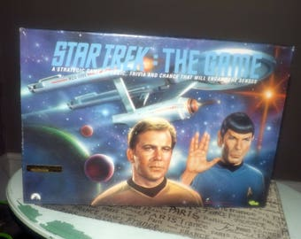 Vintage (1992) Star Trek The Game Collector limited-edition board game by Classic Games. Serial #059,010 of 200,000. Complete sealed pieces.