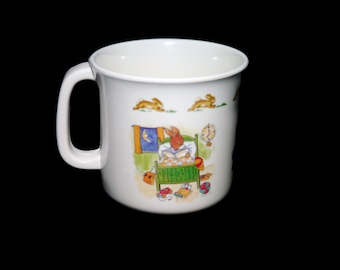 Vintage Royal Doulton Bunnykins melamine handled child's baby's cup. Great baby gift, baby shower add-on gift.