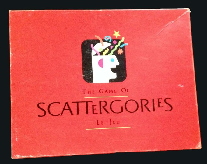 Vintage (1989) Scattergories board game published by Milton Bradley. Made in the USA.  Complete.