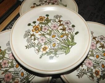 Vintage (1970s) Barratts Springdale bread-and-butter, dessert, or side plate. Center florals.