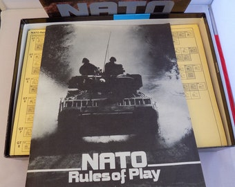 Vintage (1983) NATO The Next War in Europe strategy board game published by Victory Games. Made in USA. Complete and near mint.