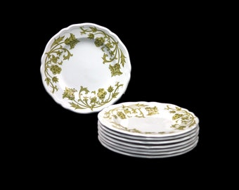 Vintage Royal Staffordshire   J&G Meakin Windsong Green bread, dessert, side plate made in England. Sold individually.