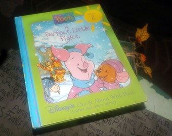 Vintage (1996) hardcover book A Perfect Little Piglet. Disney Out and About with Pooh Volume 2. Grow and Learn Library.