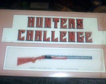 Vintage (1983) and hard to find Hunter's Challenge board game published and made in Canada by Johnny Davis Productions.  Complete.