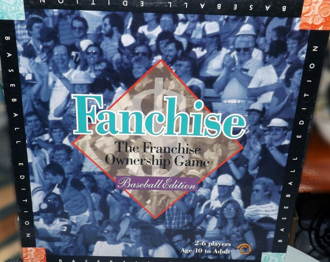 Vintage (1994) Fanchise Baseball board game.  Creative Family Entertainment Inc. Complete