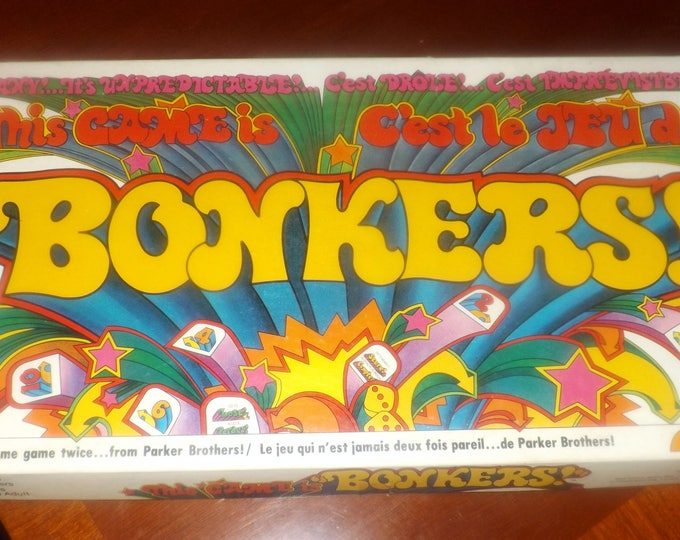 Vintage (1978) Bonkers | This Game is Bonkers board game by Parker Brothers.  Canadian bilingual (English | French) edition. Complete.