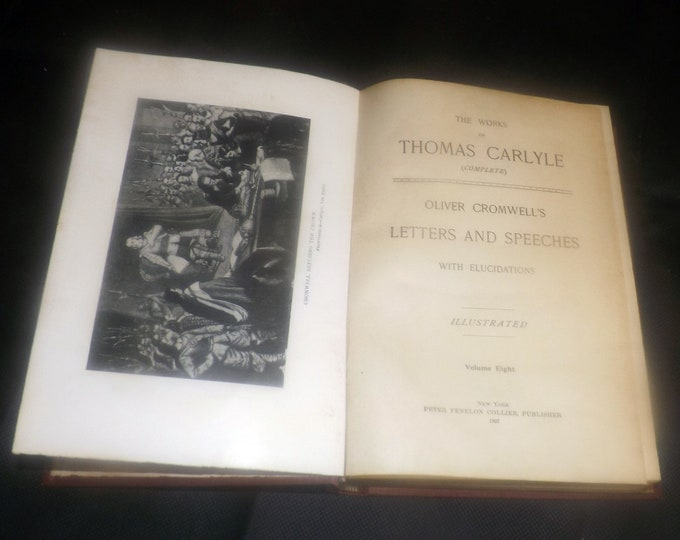 Antique (1897) hardcover book Works of Thomas Carlyle Vol VIII History of Friedrich the Second | Frederick the Great. Peter Fenelon Collier