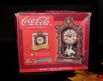 Vintage Coke | Coca-Cola Wrebbit 3D foam clock jigsaw puzzle. Complete with working clock mechanism. Vintage Coke collectible.