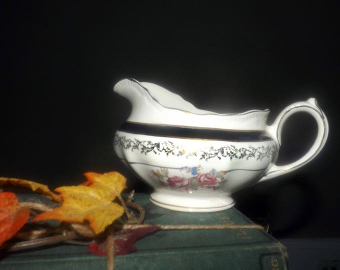 Early mid-century Sovereign Potters 721-40 creamer | milk jug. English ironstone decorated in Canada.